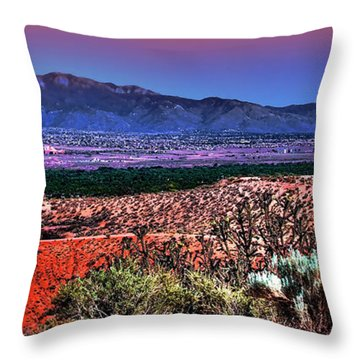East Of Albuquerque Throw Pillow by David Patterson