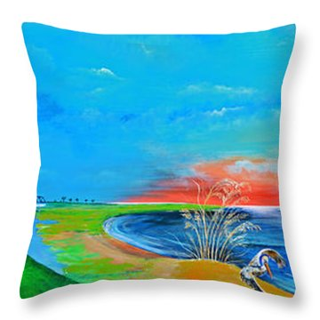 East Of The Cooper Throw Pillow