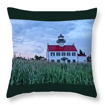 East Point At Twilight Throw Pillow