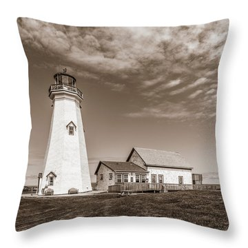Throw Pillow featuring the photograph East Point Lighthouse by Chris Bordeleau