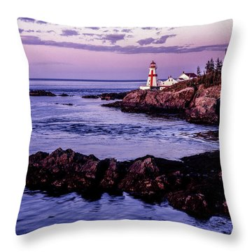 East Quoddy Head, Canada Throw Pillow