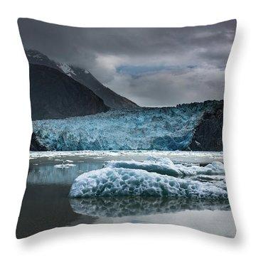 East Sawyer Glacier Throw Pillow