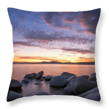 East Shore Cove Panorama By Brad Scott Throw Pillow