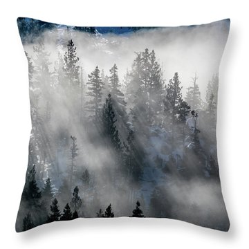 East Shore Inversion, Lake Tahoe Throw Pillow