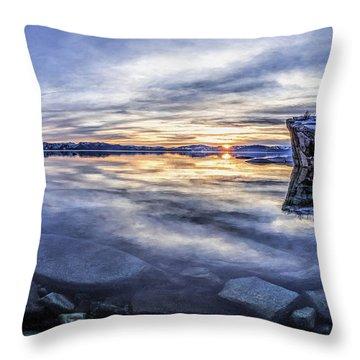 East Shore Sunset Throw Pillow