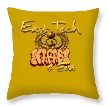 East Tech Scarabs Throw Pillow