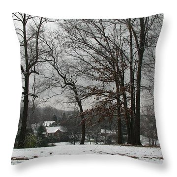 East Tennessee Winter Throw Pillow by Todd A Blanchard