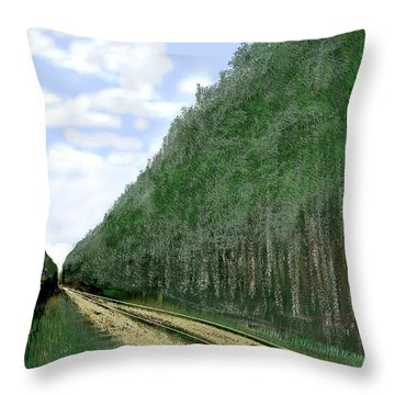 Throw Pillow featuring the digital art East Texas Pine Cut by Kerry Beverly