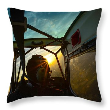 East Towards The Dawn Throw Pillow