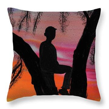 East Trailridge Throw Pillow