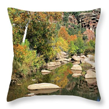 East Verde Fall Crossing Throw Pillow