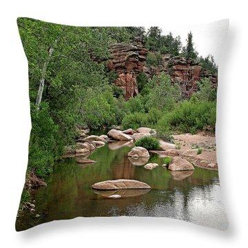 East Verde Spring Crossing Throw Pillow