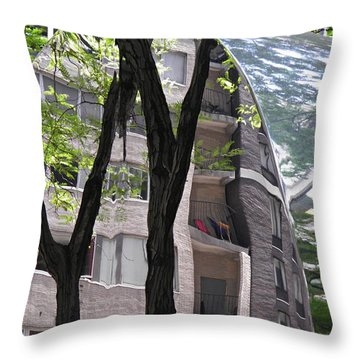 Throw Pillow featuring the photograph East West Gate 4  by Sarah Loft