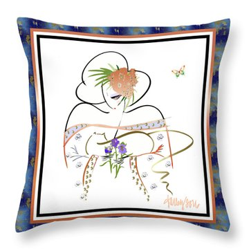 East Wind - Temple Cat Throw Pillow