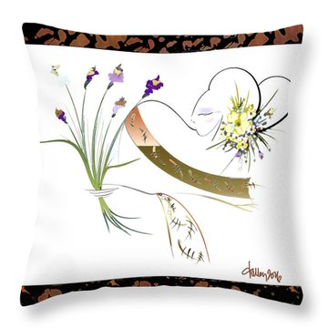East Wind - Unexpected Caller Throw Pillow