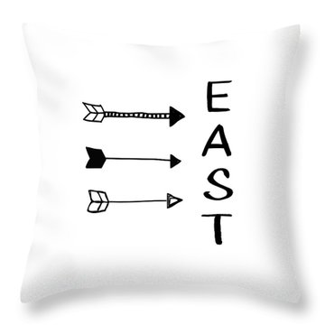 East With Arrows- Art By Linda Woods Throw Pillow