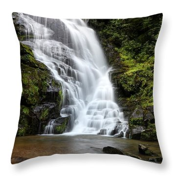 Eastatoe Falls Rages Throw Pillow