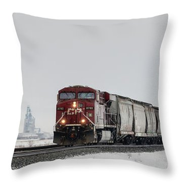 Eastbound Empties Throw Pillow