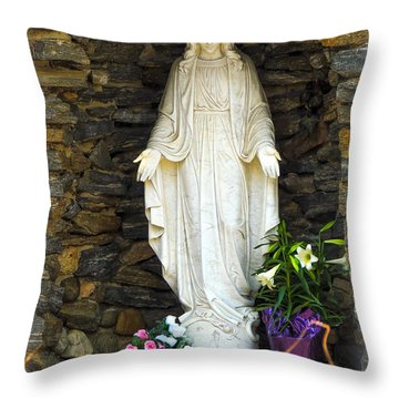Easter Angel - The Madonna Throw Pillow