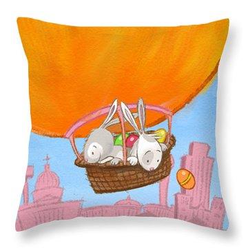 Easter Balloon Throw Pillow
