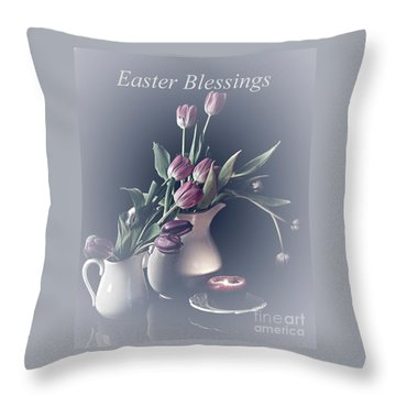 Easter Blessings No. 3 Throw Pillow