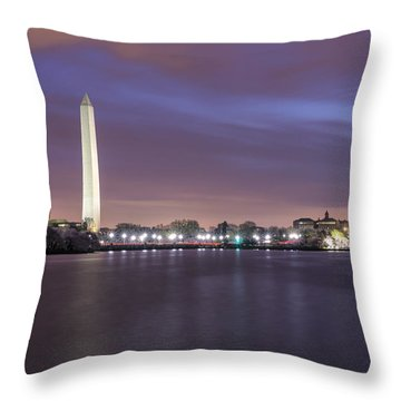 Throw Pillow featuring the photograph Easter Blues by Edward Kreis