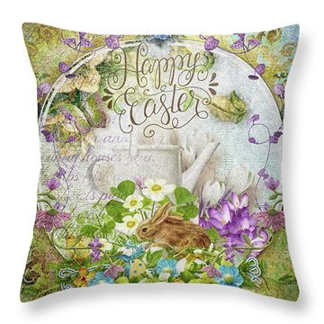 Easter Breakfast Throw Pillow by Mo T