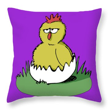 Easter Chicken Throw Pillow