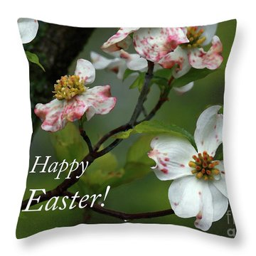 Easter Dogwood Throw Pillow by Douglas Stucky
