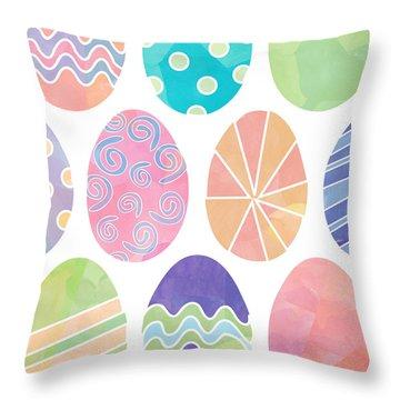 Easter Eggs 1 Throw Pillow