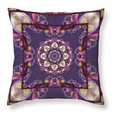 Throw Pillow featuring the digital art Easter Eggs by Charmaine Zoe