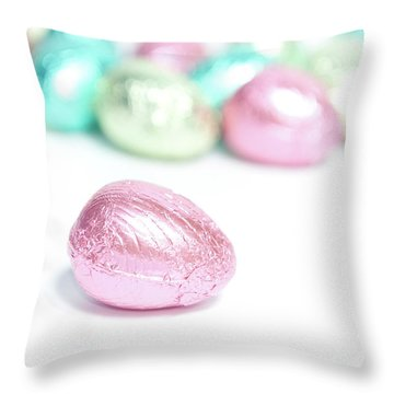 Easter Eggs II Throw Pillow