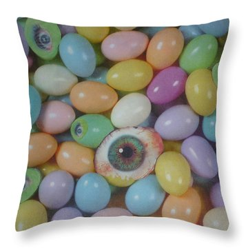 Easter Eyes Throw Pillow by Douglas Fromm