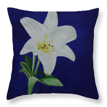 Easter Lily Throw Pillow