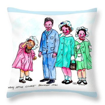 Easter Sunday - After Church Throw Pillow