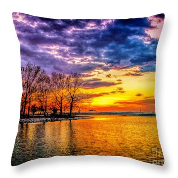 Throw Pillow featuring the photograph Easter Sunset At Riverview Beach Park by Nick Zelinsky