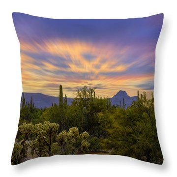Easter Sunset H18 Throw Pillow by Mark Myhaver
