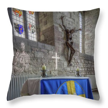 Throw Pillow featuring the photograph Easter  The Resurrection Of Jesus by Ian Mitchell