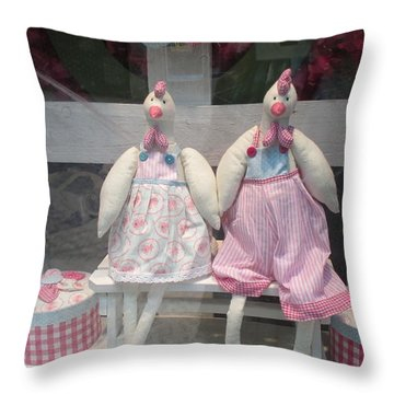 Easter Time In Lisbon Throw Pillow