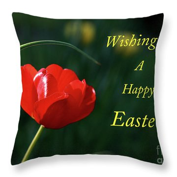 Throw Pillow featuring the photograph Easter Tulip by Douglas Stucky