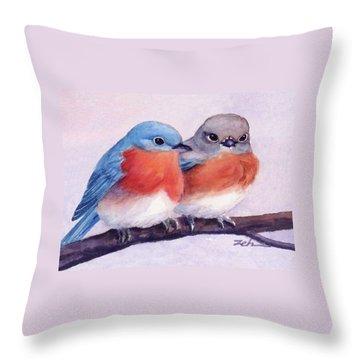 Eastern Bluebirds Throw Pillow