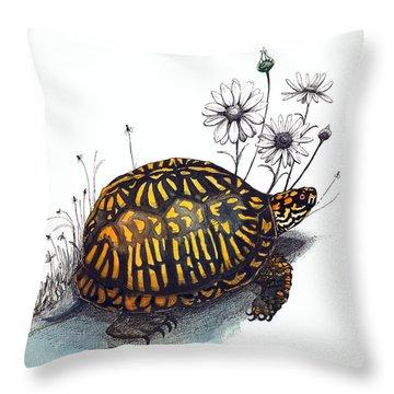 Eastern Box Turtle Throw Pillow