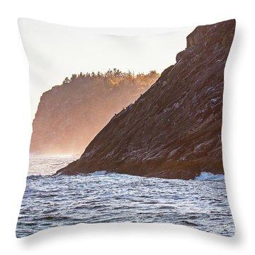 Eastern Coastline Throw Pillow
