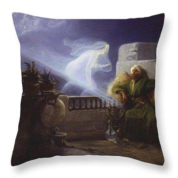 Eastern Dream Throw Pillow by Jean Jules Antoine Lecomte du Nouy