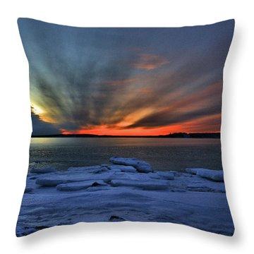 Eastern Lights  Throw Pillow