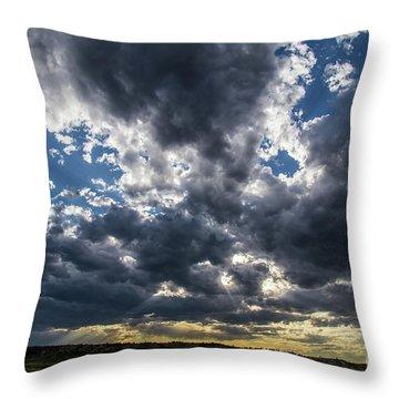 Eastern Montana Sky Throw Pillow
