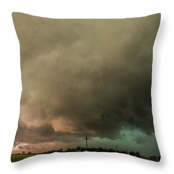 Eastern Nebraska Moderate Risk Chase Day 007 Throw Pillow