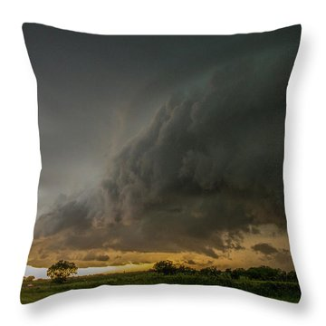 Eastern Nebraska Moderate Risk Chase Day Part 2 004 Throw Pillow