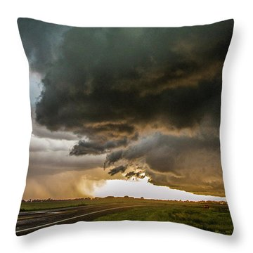 Eastern Nebraska Moderate Risk Chase Day Part 2 010 Throw Pillow