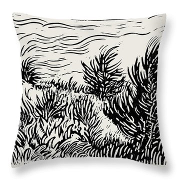 Eastern Red Cedar Throw Pillow